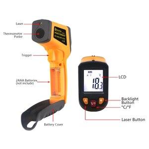 Image 2 - Ketotek ЖК Бесконтактный цифровой лазерный ИК инфракрасный термометр C/F выбор поверхности пирометр заменить GM550