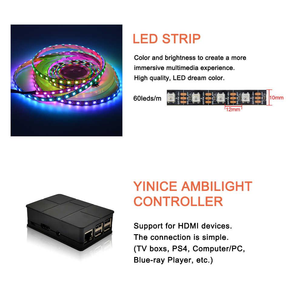 """4K funkcji Ambilight telewizor led podświetlenie zestaw telewizor led efekt oświetlenia Ambilight dla TV hdmi źródeł dynamiczne oświetlenie otoczenia kolor rgb na 40 """"-80"""" TV"""