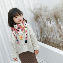 Childrens cotton scarf triangle tide autumn and winter baby boy girl fashion child