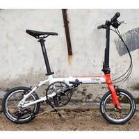 """دراجة هوائية قابلة للطي مصنوعة من الألمونيوم بتصميم عتيق 14 """"16"""" فولت بمكابح 3 سرعات دراجة صغيرة من طراز Minivelo دراجة حضرية قابلة للطي-في الدراجات من الرياضة والترفيه على"""