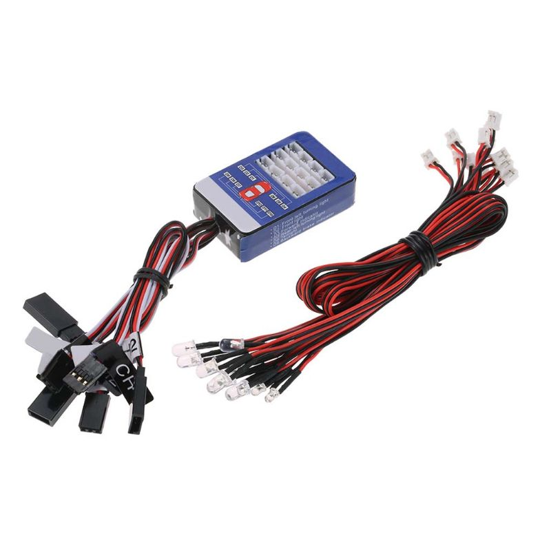 12 LED Lighting System Kit Simulation Flashing Lights Remote Control Car Light for <font><b>1/10</b></font> RC Car Scale Model Parts <font><b>Accessories</b></font> image