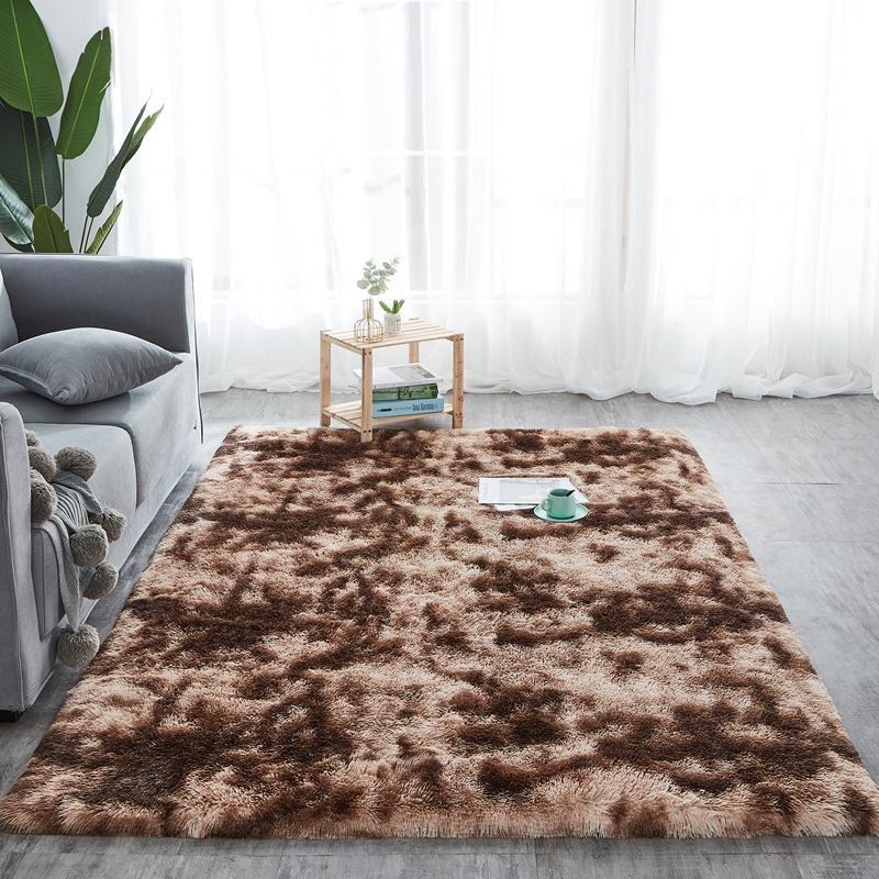 Tie Dye Carpet Shaggy Plush Floor Fluffy Printed Mats