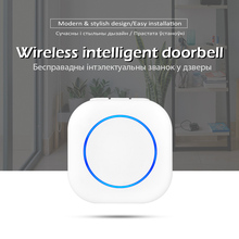 Wireless Doorbell Smart Alarm Chime Rings-Songs Led-Light Touch-Button Welcome Waterproof