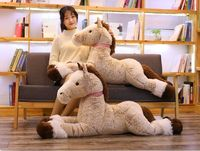 new toy lovely cartoon lying horse plush toy brown horse soft cotton doll throw pillow Christmas gift b1274