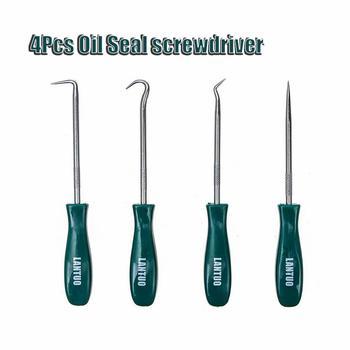 4Pcs 135mm Oil Seal Screwdrivers Set Car Auto Vehicle Pick Hooks For Garages General-Plumbers Mechanics Workshop Tools
