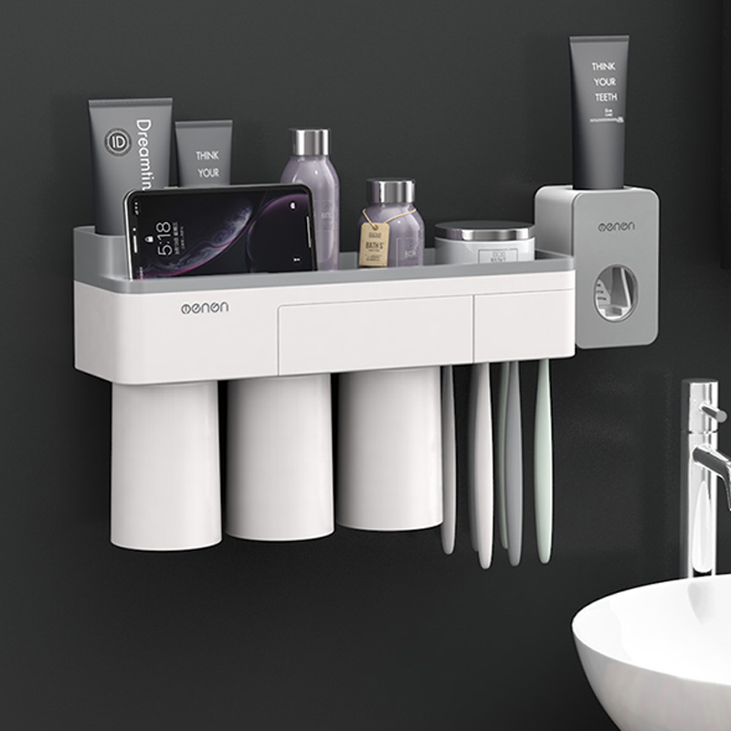 Bathroom Organizer Made With ABS Material And Shelf Magnetic Used For Shampoo And Shower Gel 3