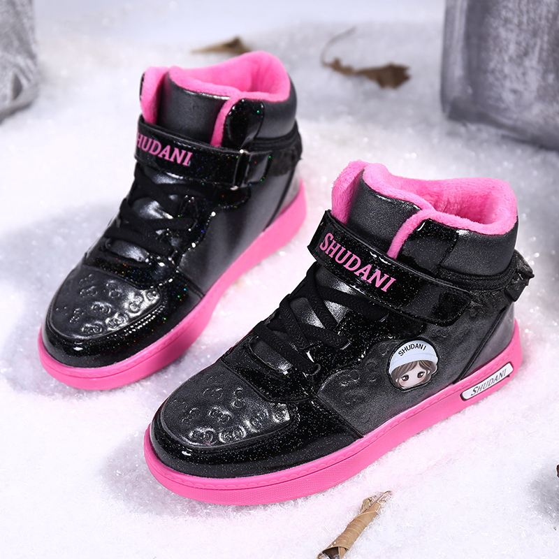 winter 2019 kids shoes for girl girls sneakers Snow boots Pink Princess