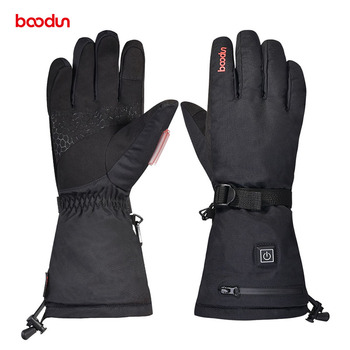 high quality BOODUN Outdoor Warm Electric Heated Heating Gloves 3 Modes USB Charging Five fingers heating waterproof