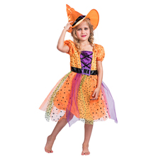 Fancy Witch Costume Cosplay For Girls Halloween Costume For Kids Carnival Party Suit Dress Up new original pk3 qm1n riko photoelectric sensor