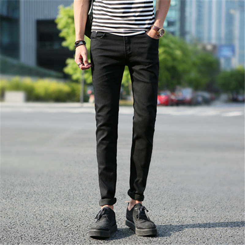Spring And Autumn Men Skinny Jeans Korean-style Slim Fit Elasticity Pencil Pants Fashion Man Students Tapered Pants Fashion