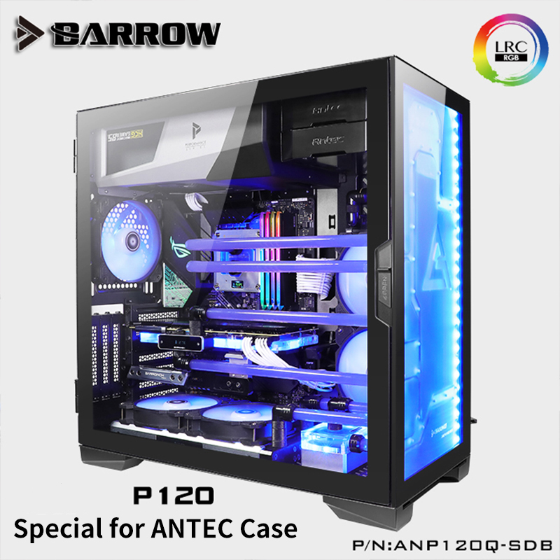 Barrow Water Way Plate For ANTEC P120 Case Front Type RGB Reservoir 5V 3PIN ARGB AURA Motherboard Water Tank ANP120Q-SDB