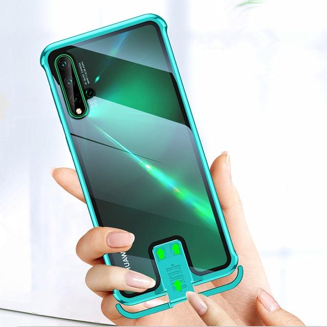 OMEVE Huawei Nova için 5T durumda Nova 5 kapak sınırsız metal tampon temizle temperli cam kabuk için Huawei Nova5T 5 telefon kılıfları