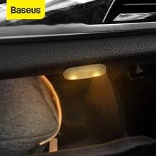 Baseus luz do carro conduziu a lâmpada decorativa 2 pçs estilo magnético toque luz da noite lâmpada do teto para acessórios de luz interior do carro
