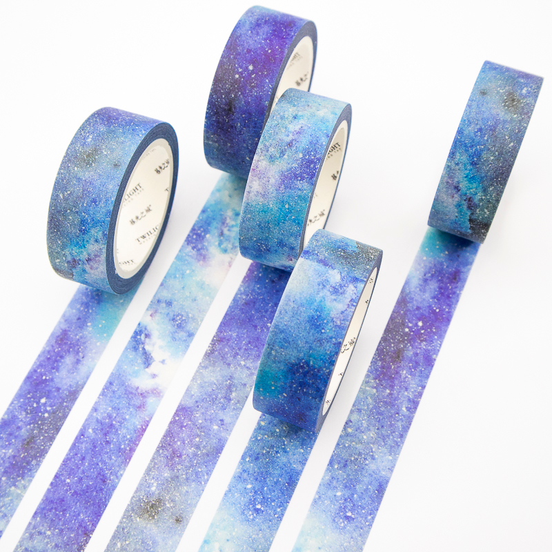 Blue Starry Sky Washi Tape Set Masking Scrapbook Decorative Adhesive Paper Tape DIY Office Stationery 1PCS 8M