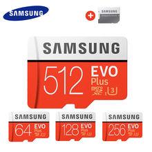 SAMSUNG – carte Micro SD + C10 UHS TF, 64 go/256 go/128 go, SDHC/SDXC, carte mémoire