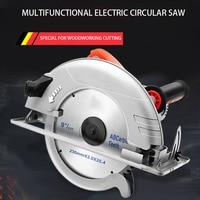 10 Inch Elektrische Cirkelzaag Draagbare High-Power Omgekeerde Stofvrij Tafel Zag Multifunctionele Decoratie Snijmachine