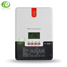 MPPT 40A Solar Charge Controller LCD Screen Solar Regulator Solar System Controller for 12/24/36/48V Battery Voltage 50a solar panel battery charge solar high power positive high voltage ideal diode controller anti reverse irrigation protection
