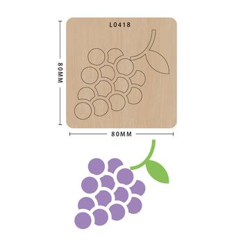 SMVAUON Grape Scrapbook Die Cut DIY handmade nowe matryce do 2020 drewniany szablon do wycinania formy do wykrawania tanie i dobre opinie fruit Laser mold