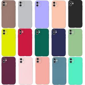 Мягкий силиконовый чехол для iphone 6 6s 7 8 plus 11 pro max x xs xr se 2020