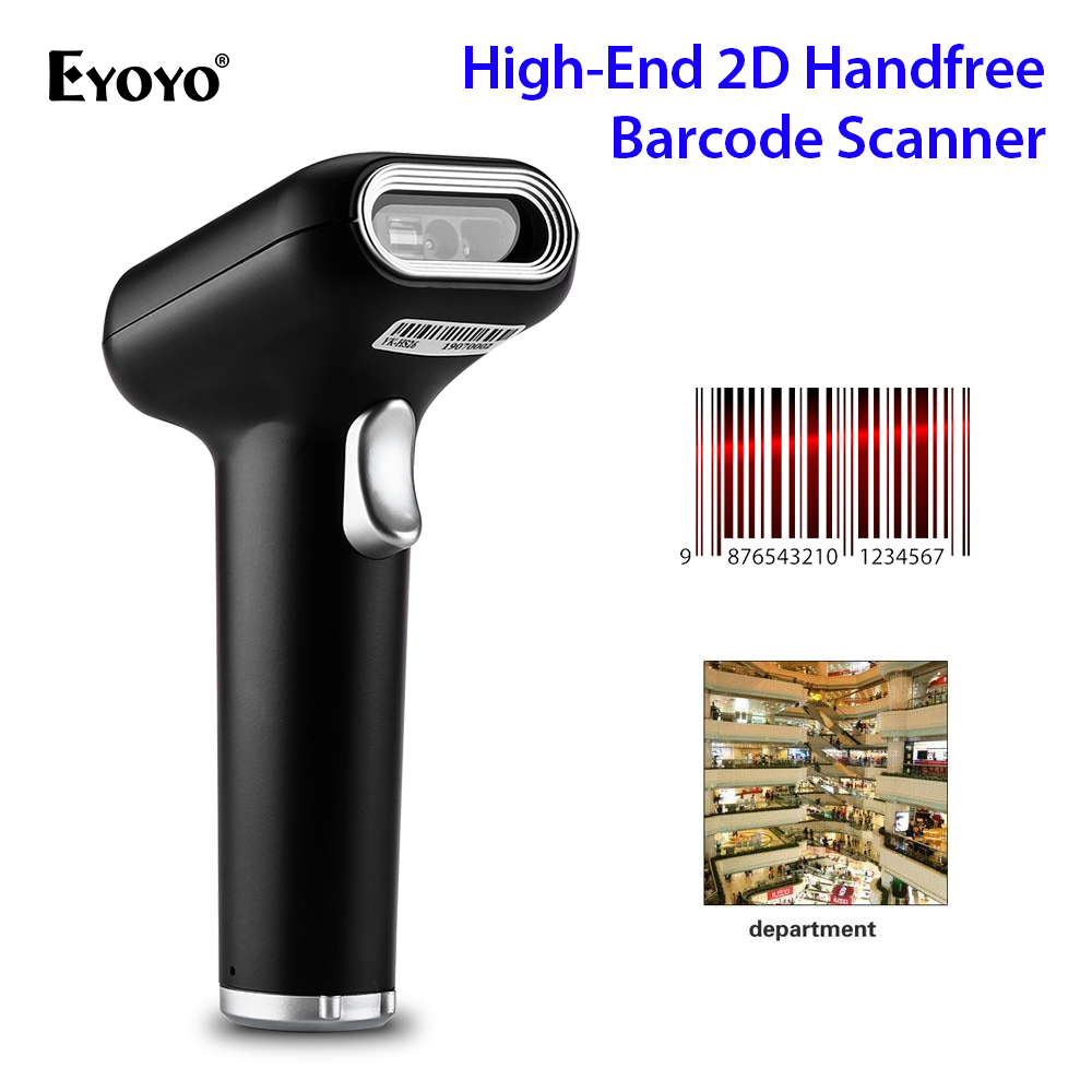 Eyoyo Barcode Scanner 2D Datamatrix PDF417 QR Russian HS26 GS1 Cigarette Alcohol Pharmacy