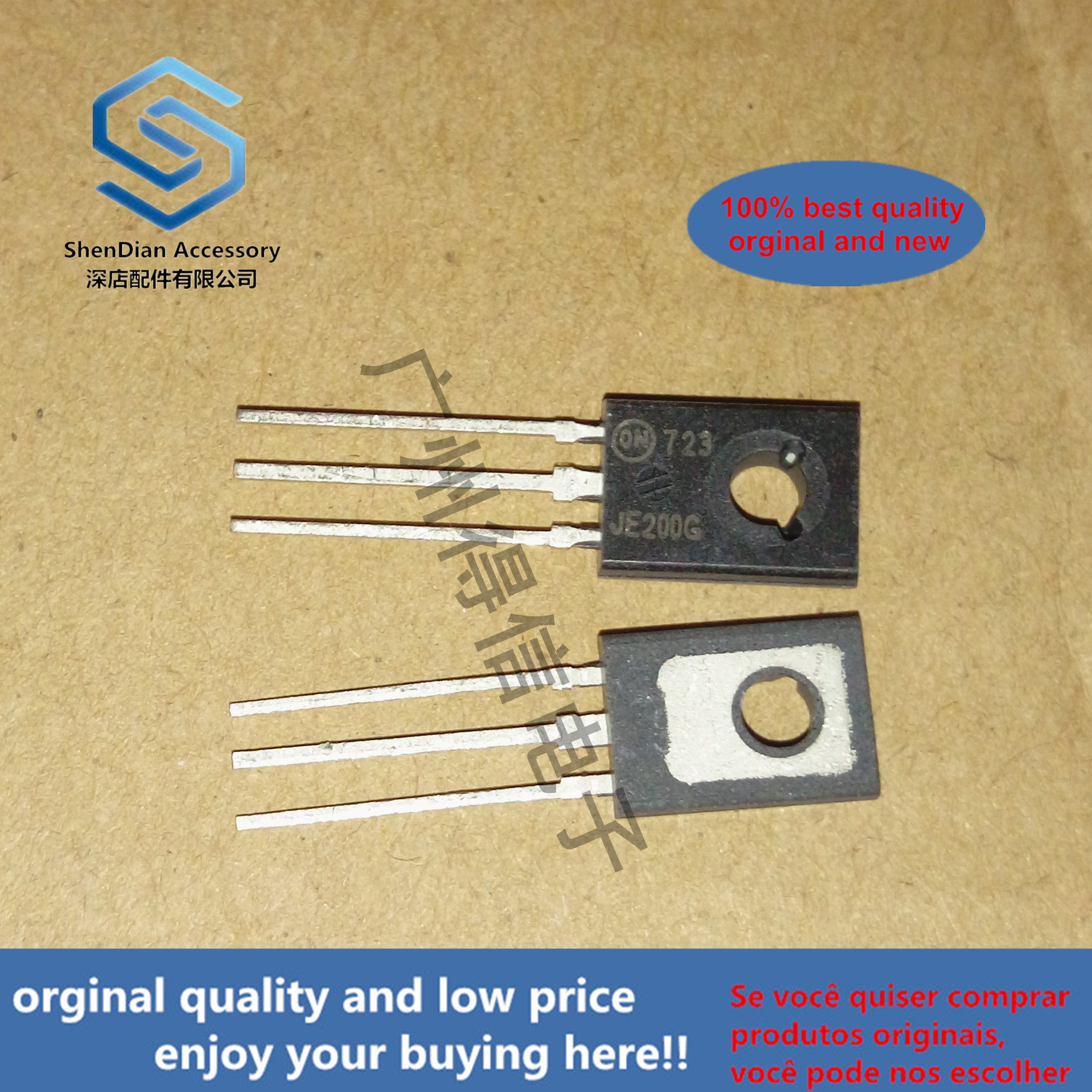 10pcs 100% Orginal New MJE200G JE200 TO-126 Complementary Silicon Power Plastic Transistors Real Photo