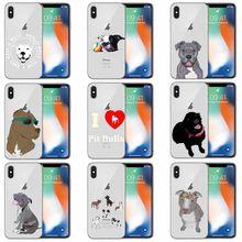 Pit Bull perro mascota Pitbull de silicona Suave caso del TPU Capa Do Telefone para el iphone 6 7 8 Plus X XS X XR XSMax 11 12 Mini Pro