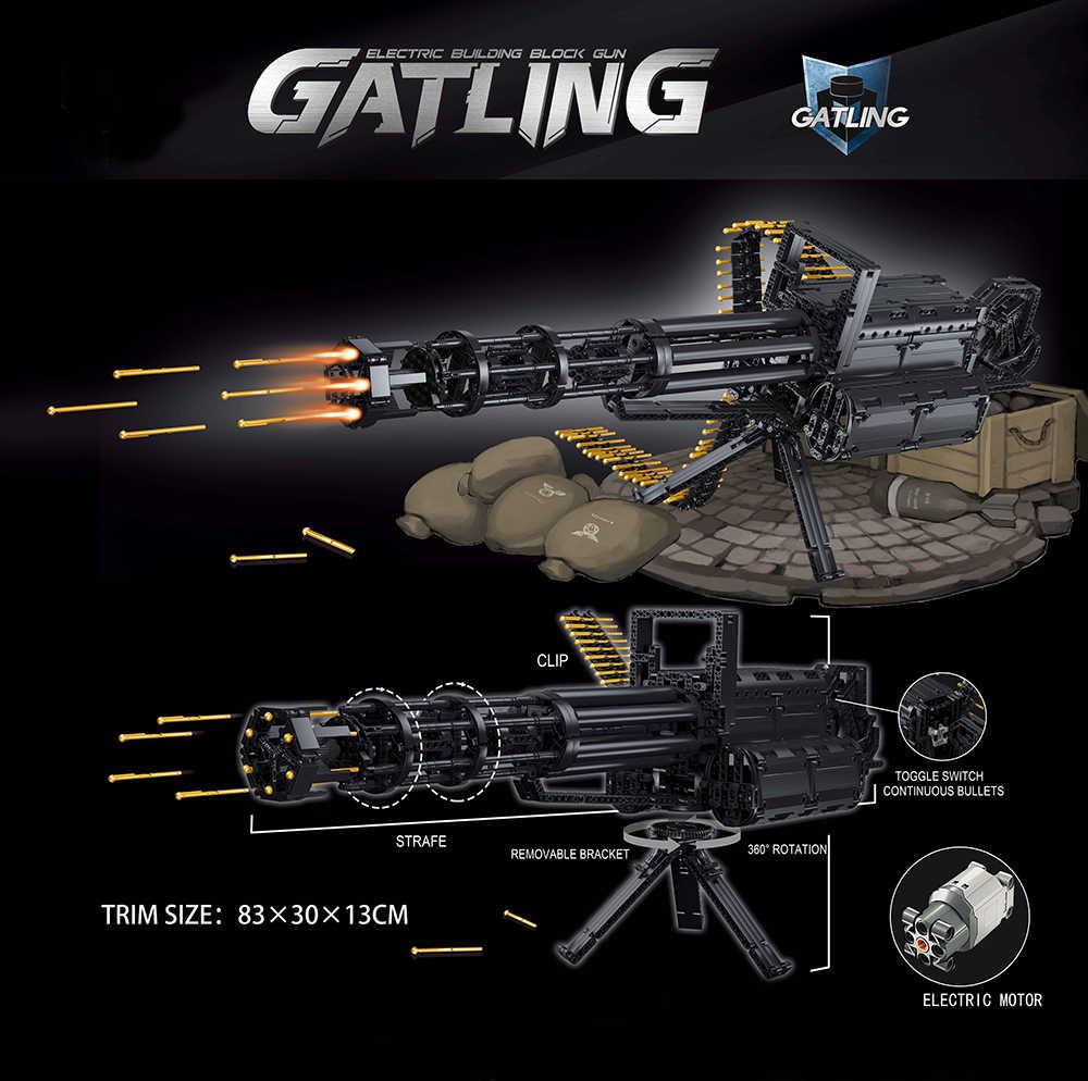 Gatling Sniper Rifle Military Waffe DIY Bausteine Ziegel Pistolen Armee Bewegliche Steine Guns Spielzeug Geschenke Für Kinder Kinder