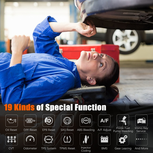 Image 3 - Foxwell GT60 OBD2 Professional Car Diagnostic Tool Full System AT ABS SRS DPF EPB 19 Reset Service ODB2 OBD2 Automotive Scanner