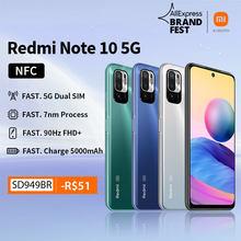 [Lançamento Mundial em Estoque] Xiaomi Redmi Note 10 Versão Global 5 G NFC Smartphone Dimensity 700 Tela de 90 Hz Câmera de 48 MP 5000 mAh