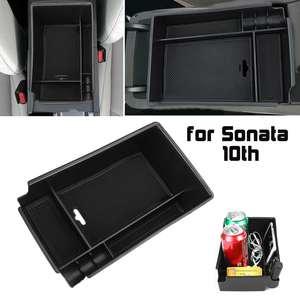 Image 1 - Car Armrest Storage Box Case Central Anti slip for Hyundai Sonata DN8 10th 2020