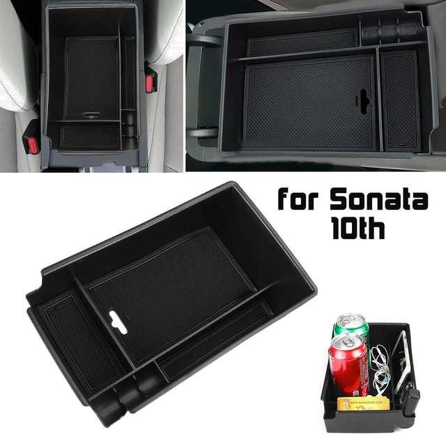Car Armrest Storage Box Case Central Anti slip for Hyundai Sonata DN8 10th 2020