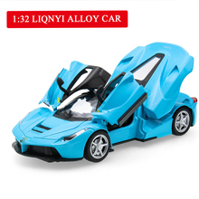 1:32 Alloy Car Model Diecast Sound Light Pull Back Door Toy for Children Hot Toy Car Hot-Wheel Boy Toy 1 18 diecast model for acura mdx 2015 red alloy toy car miniature collections page 4