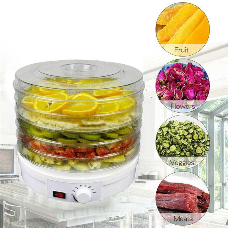 28CM 32CM 350W 5 Tier Electric Food Dehydrator Fruit Dried Machine Fruit Beef Jerky Herbs Pet Food Dry Machine