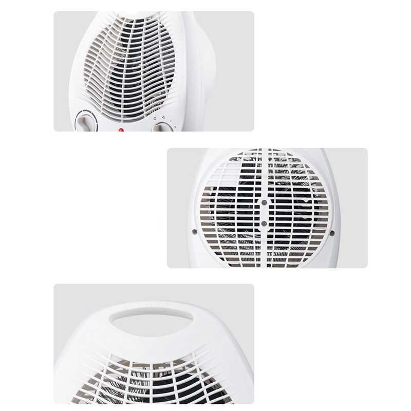 2000W Elektrische Fan Innen Heizung Tragbare Elektrische Raum Heizung Mini Heizung Fan Rotierenden Heizung (EU-STECKER)