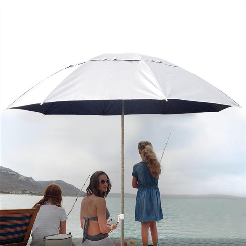Parasol Sun Shade Umbrella for Fishing Garden Beach Patio Tilting Tilt Umbrella Parasol Protection Ultraviolet-proof Adjustable