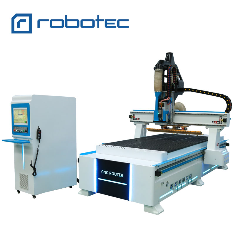 9.0kw Air Cooling Spindle Automatic Tool Change ATC 1325 Cnc Router 1300*2500mm For Panel Furniture