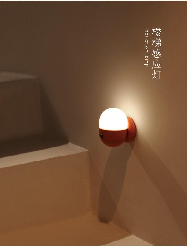 Rechargeable 500mAh Lithium Battery Capsule Sensor Night Light Lamp Bedroom Bedside Corridor Wardrobe Commpact Emergency Light