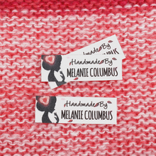98pcs Custom Ironing Labels,  Personalized Brand , Logo or Text, Iron on Cotton Fabric, iron on (TB3240) 50 nifty iron on quilt labels