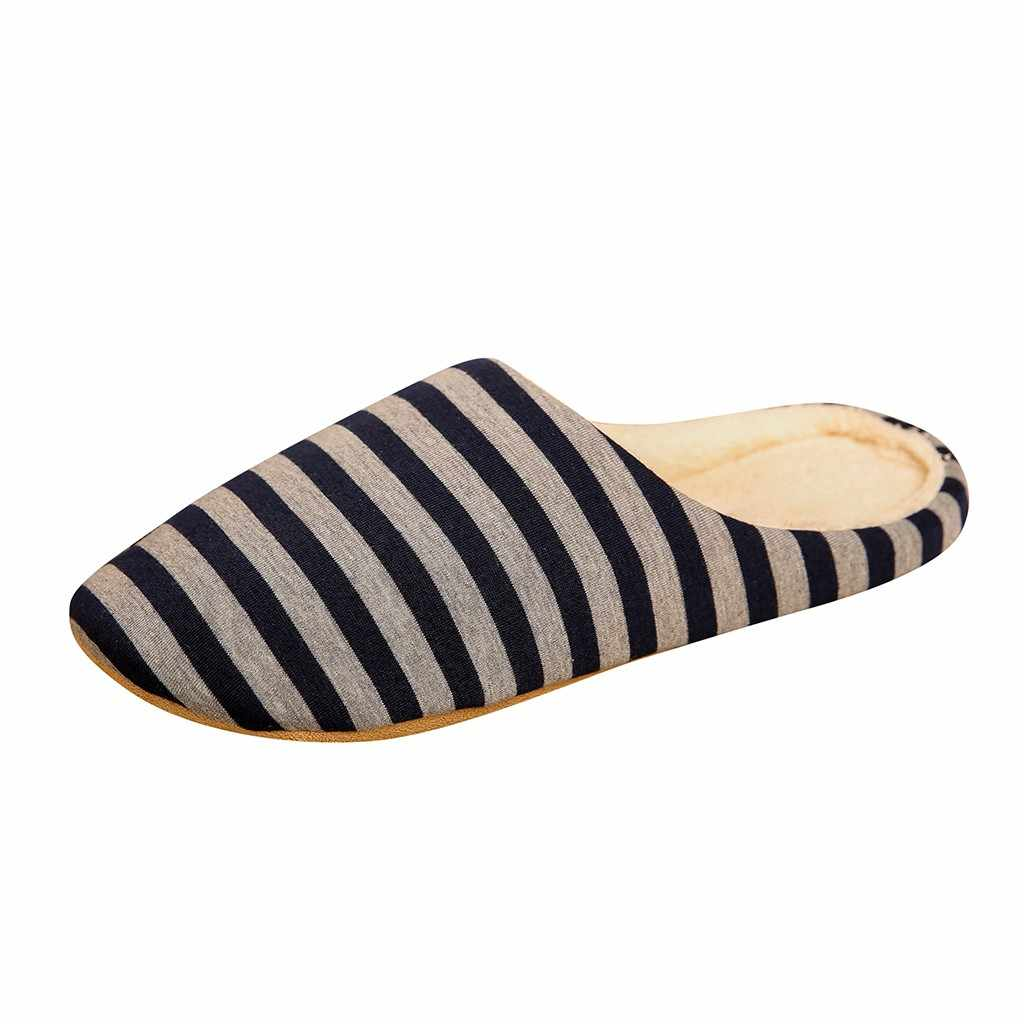 Womens Letters Printed Plush Slippers Indoor Floor Shoes Mules Round Toe Slip On