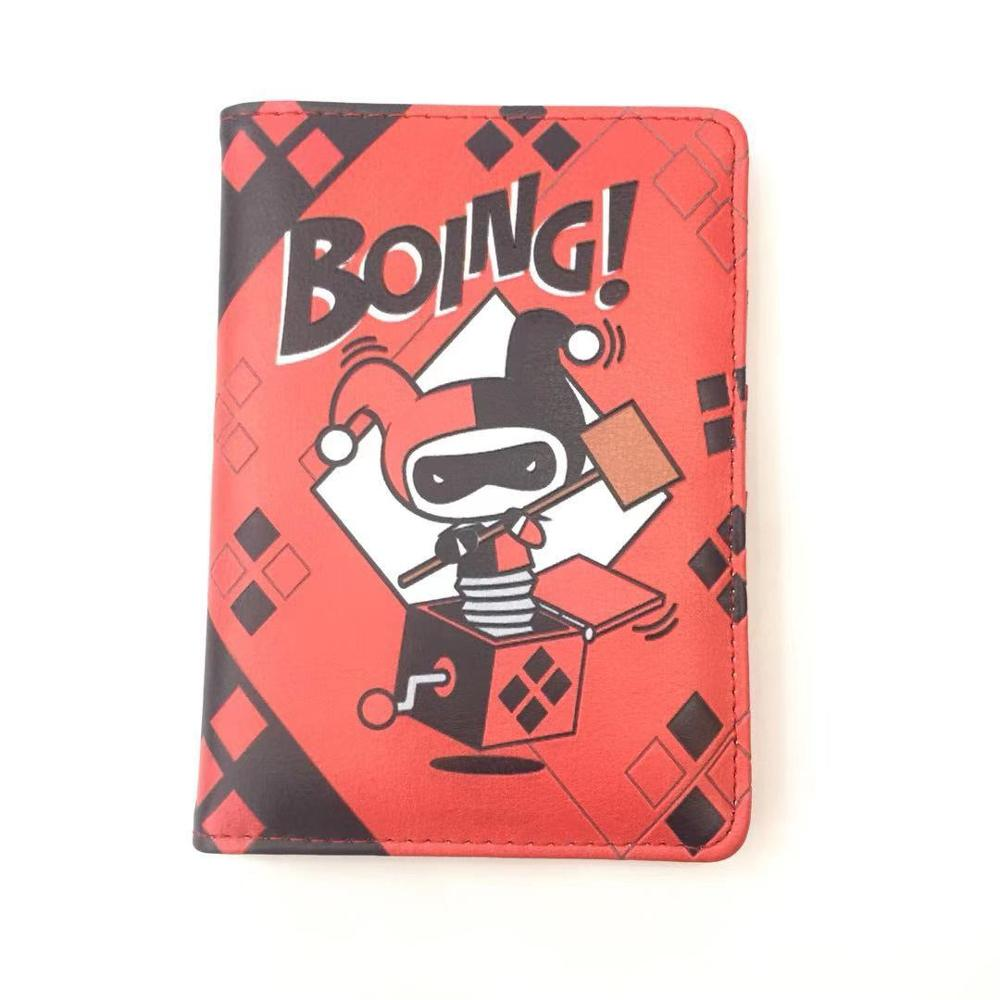 Jokar Harley Quinn Superhero Leather Passport Holder Cover Wallet ID Cards