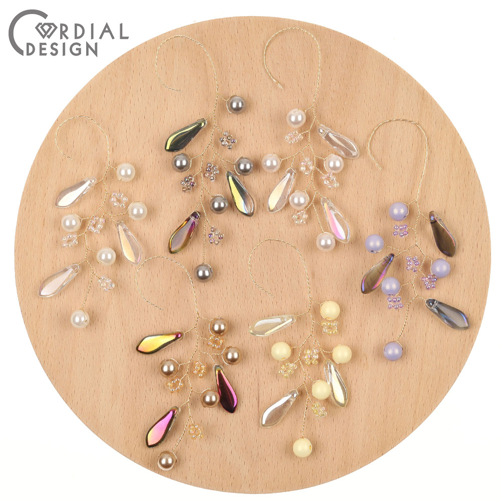 Jewelry-Making Earring-Findings/diy Cordial-Design Branch-Shape/crystal 30pcs 36--103mm