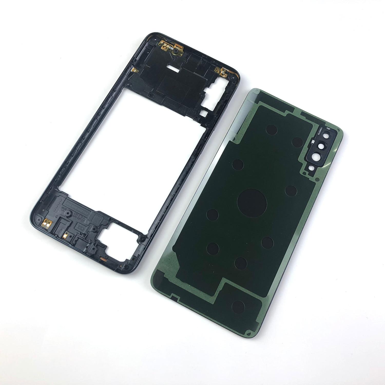Для Samsung Galaxy A70 2019 A705 SM-A705F A705DS корпус средняя рамка + задняя крышка батарейного отсека + объектив камеры + логотип