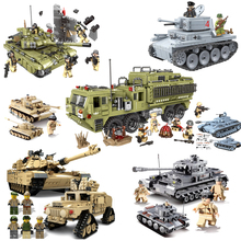 Military Panther Tank Building Blocks Technic City WW2 Tank Soldier Weapon Army  Figures Compatible Bricks Toys for Children