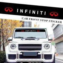 Автомобильная наклейка светоотражающая настенное украшение стены передние и задние лобовое стекло для защиты от солнца Стикеры для Infiniti ...
