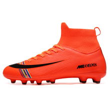 Football-Boots Soccer-Cleats Sports-Shoes Training-Sneakers High-Ankle TF/FG Child