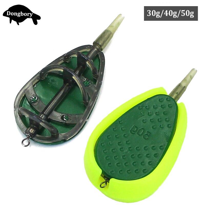 30 グラム/40 グラム/50 グラム鯉釣りでライン方法フィーダアクセサリーセットクイックリリースフラット方法フィーダーと餌型鯉フィーダ