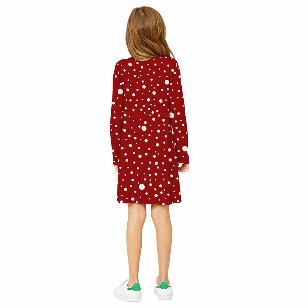 Vestido MUQGEW para niñas 7 modelos Navidad estampado chica vestido adolescente niños niña manga larga 3D dibujos animados Navidad vestido de Navidad ropa