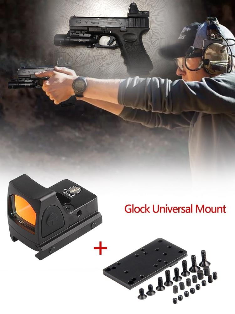 Rifle Reflex Sight Scope  S2 Mini RMR Red Dot Sight Collimator Glock
