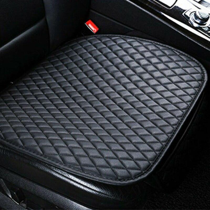 PU Leather Car Rear Back Row Seat Cover Cushion Pad Mat Protector Non-slip Black