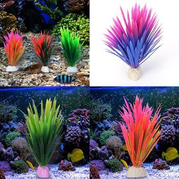 Simulation Artificial Plants Aquarium Decor Water Weeds Ornament Plant Fish Tank Aquarium Grass Glowing Aquarium Decoration